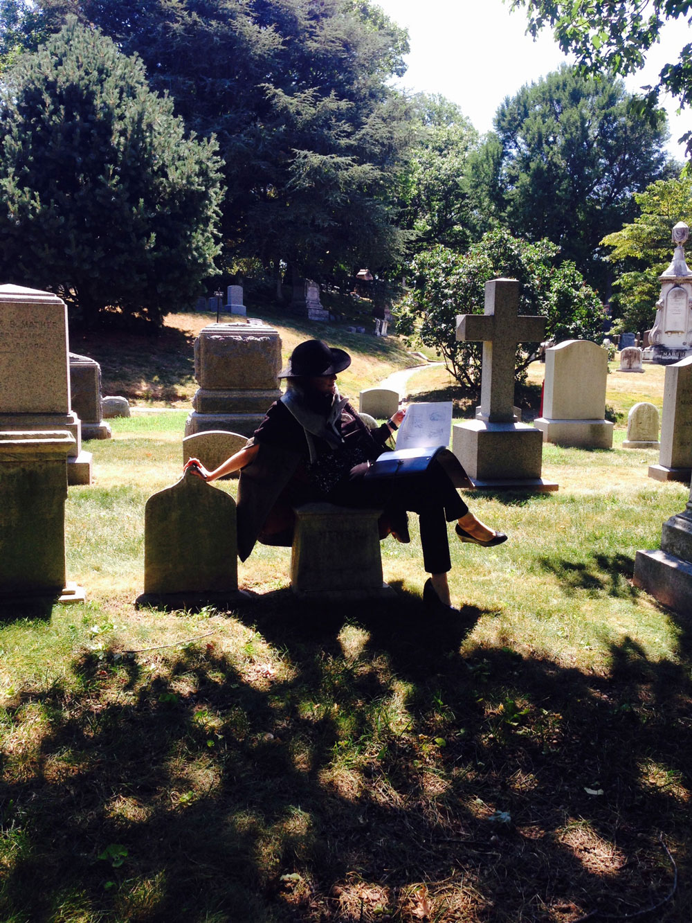 Laura Terry in the Graveyard