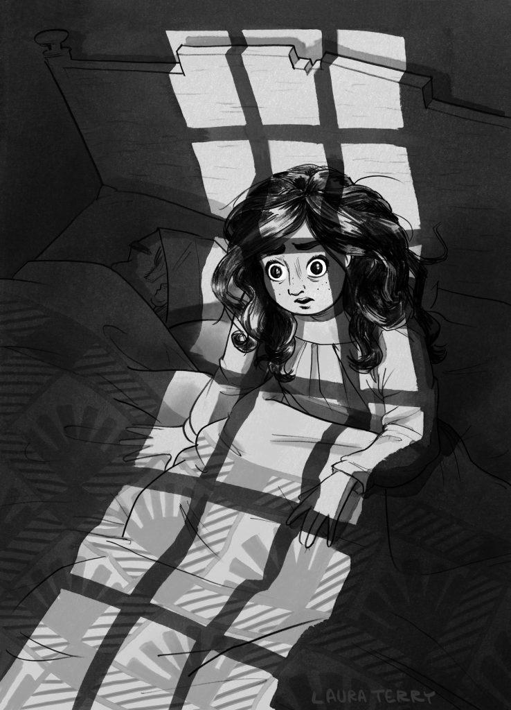 Anna strong woke in the dark.